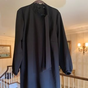 New Eloquii Black Dress with Sash at Neck Sz 20